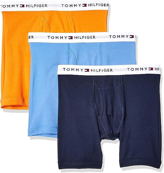 Tommy Hilfiger hombres de 3-pack algodón BOXER BRIEF: Amazon.es ...
