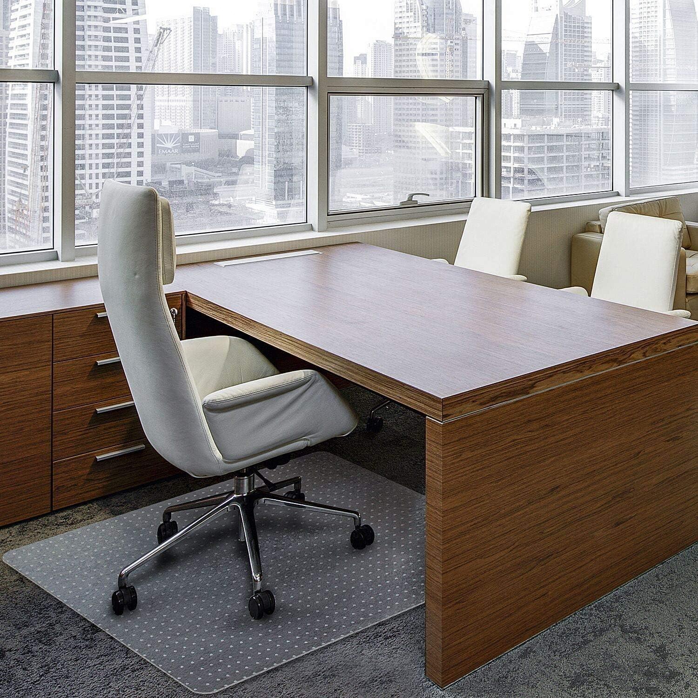 사무실 의자 매트 양탄자를 위해 방수 PVC 다중 목적(사무실 가정)보호를 위한 단단한 바닥이 두꺼운 고품질 스터드 장식한 36X48(두께 2MM 손톱으로 사각형)
