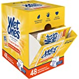 Wet Ones Antibacterial Hand Wipes, Tropical Splash Scent, 48 Individually Wrapped Wipes in a Dispenser, Packaging May…