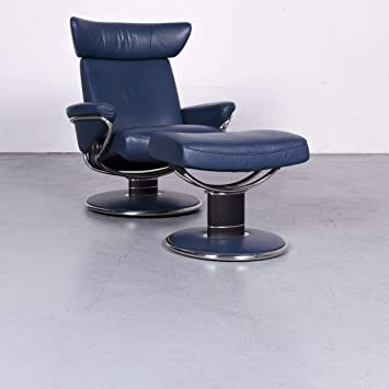 Stressless Jazz M Designer Leder Sessel Blau Echtleder Relax ...