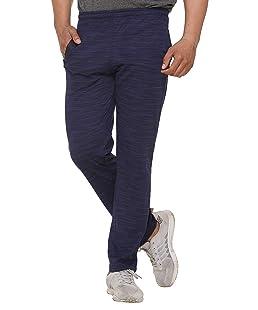 SHAUN Men's Sports Trackpant (Dark Blue_Large)