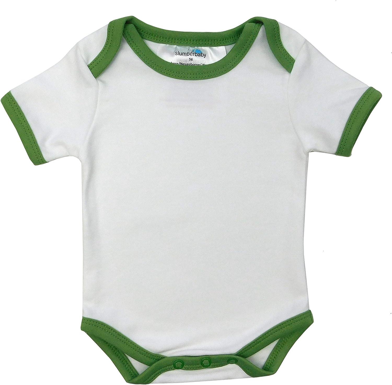 5 Pack 74cm//6-9 Months Slumbersac Baby Bodysuit Short Sleeve Forest Friends Size
