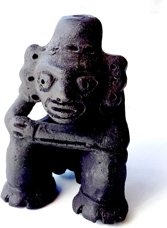 Caribbean Taino Indian Cacique Marocael Collectible Ceramic Fire Figure