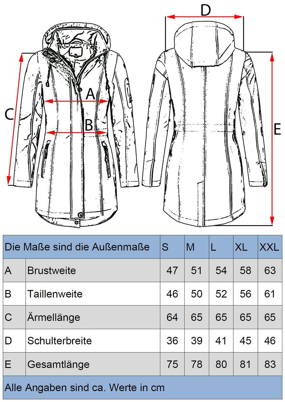 Peak Time Damen Mantel Softshellmantel Übergangsmantel L60026 4 Farben S-XXL