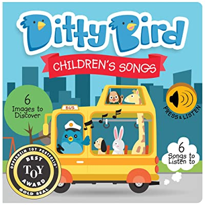 DITTY BIRD Baby Sound Book: Our Children's Songs Musical Book is The Perfect Toys for 1 Year Old boy and 1 Year Old Girl Gifts. Educational Music Toys for Toddlers 1-3. Award-Winning!: Toys & Games