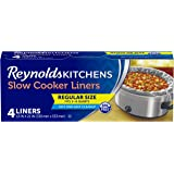 Reynolds Kitchens Slow Cooker Liners, Regular (Fits 3-8 Quarts), 4 Count (Pack of 12), 48 Total