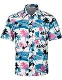 APTRO(アプトロ) アロハシャツ メンズ ビーチシャツ 通気速乾 超軽量 プリントシャツ 夏 イベント 祭り ハワイ 半袖シャツ