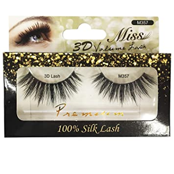 a16916296e0 Amazon.com : [4 PACKS] Miss Lashes 3D Volume Tapered False Eyelash Extension  + FREE GIFT : Beauty