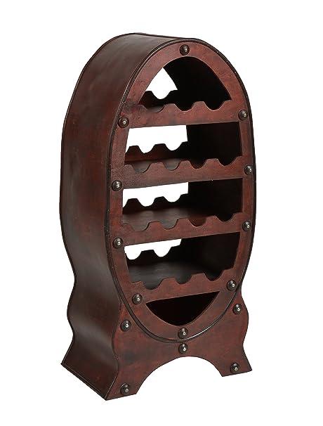 Ts Ideen Weinregal Fass Fur 14 Flaschen Braun Antik Kolonialstil