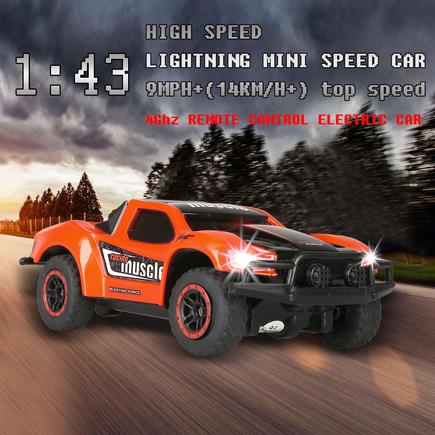 Amazon.com: SZJJX RC Cars High Speed Racing Car 2.4Ghz 1/43 Mini ...