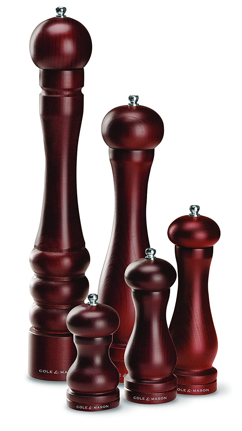 12.5 inch COLE /& MASON Capstan Wood Pepper Grinder Wooden Mill Includes Precision Mechanism