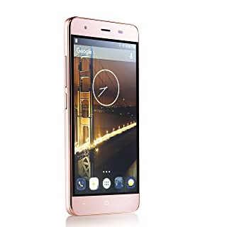 "Unlocked Dual Sim Smartphone 5"" IPS Display, 4G LTE GSM, 13MP Camera, Quad Core 1.3GHz Processor (Rose Gold)"