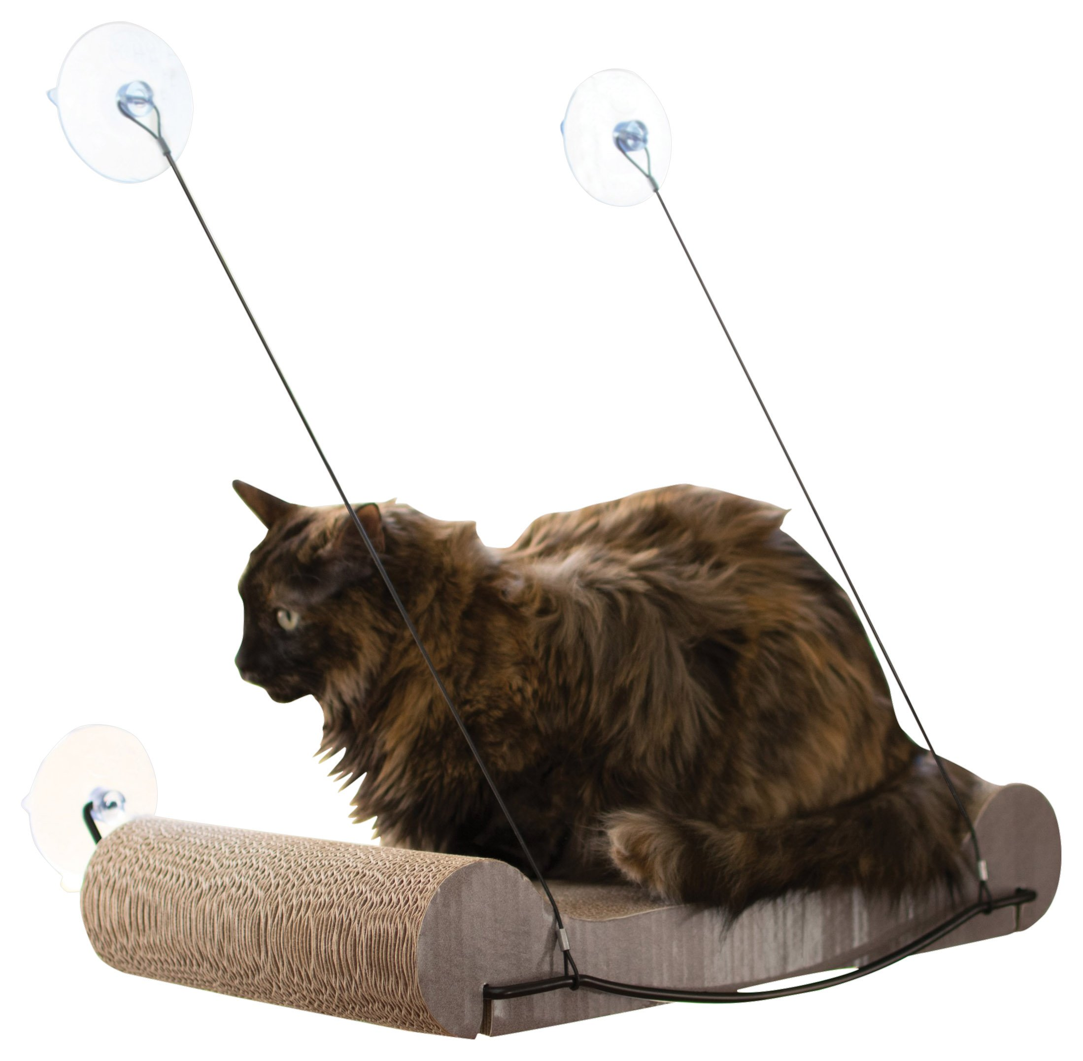 K&H Pet Products EZ Mount Cat Scratcher Kitty Sill & Refill - Perfect Cardboard Cat Toy and Sunny Lounge Spot in One product image