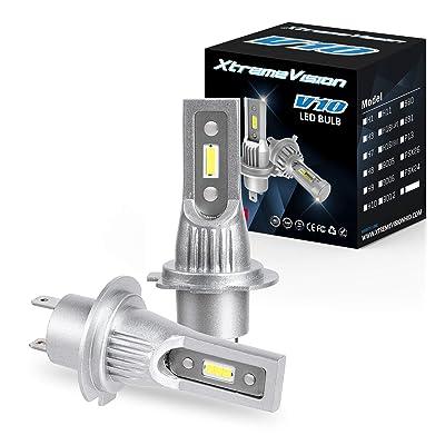 Xtremevision V10 30W 8,000LM - H7 LED Headlight Conversion Kit - 6500K CSP LED - 2020 Model: Automotive