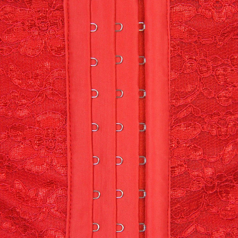 Pandolah Women Steel Bone Corset Lace Elastic Waist Training Lingerie XS-6XL