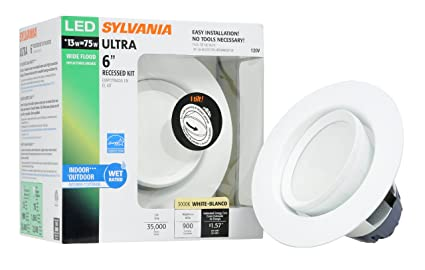 sylvania 72369 ultra led 6 inch recessed downlight kit with 35
