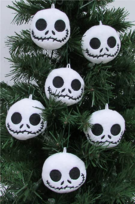 Jack Skellington Christmas.Nightmare Before Christmas Plush Ornament Set Featuring 6 Jack Skellington Christmas Tree Plush Ornaments Average 2 5 Round