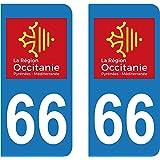 Capable 2 Immatriculation 66 Pyrenees Orientales Catalan Catalunya Sticker Autocollant Automobilia Badges, Insignes, Mascottes