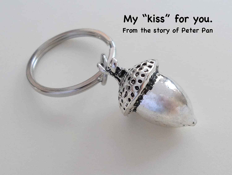Amazon.com: Elongated Bellota Llavero – Peter Pan de beso ...