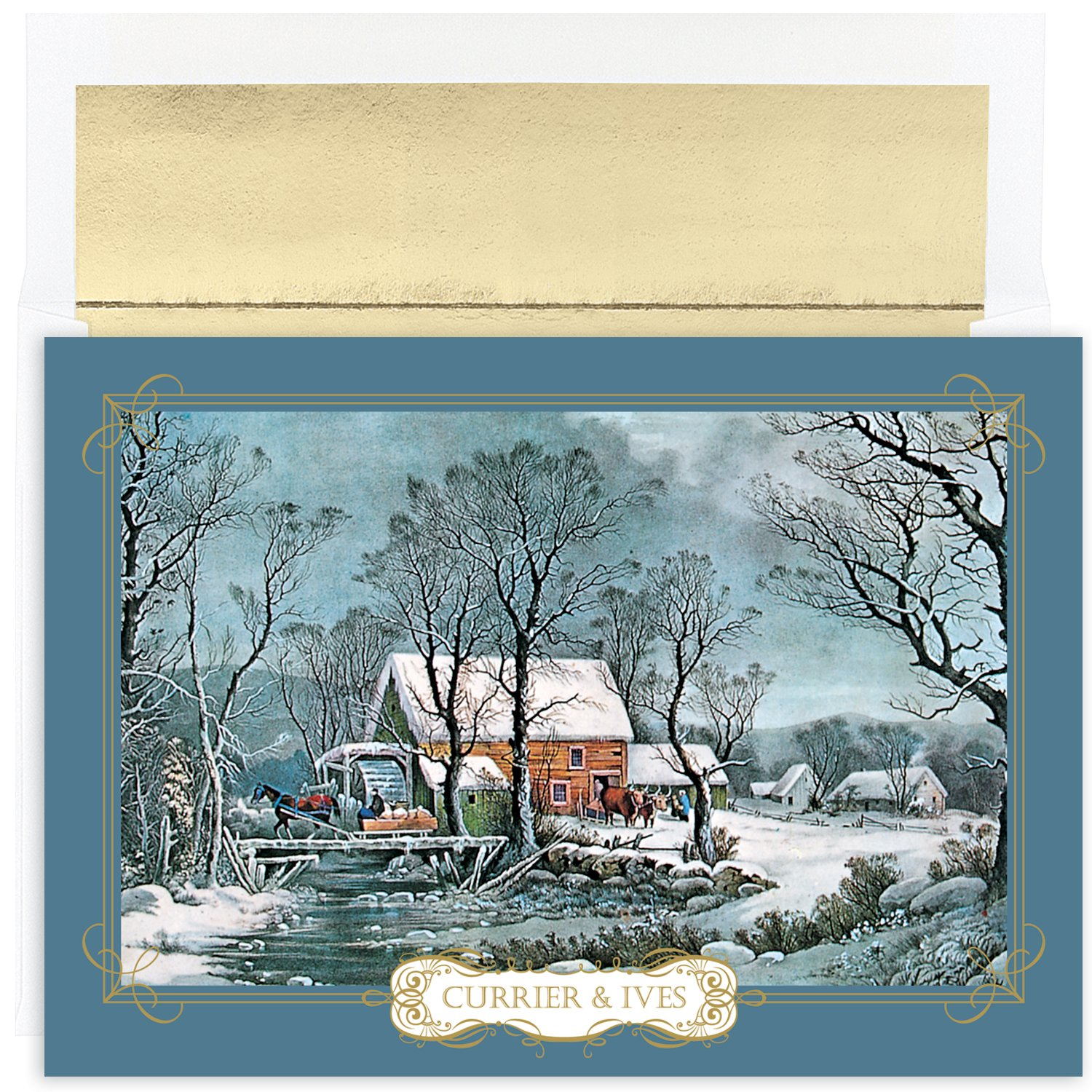 Currier Ives Christmas Cards Business | www.topsimages.com