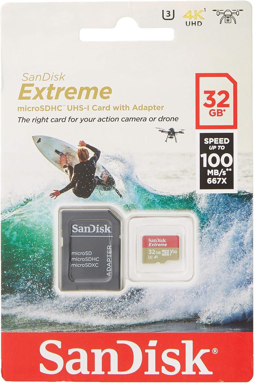 SanDisk - Tarjeta de Memoria Extreme 32 GB microSDHC para cámaras ...