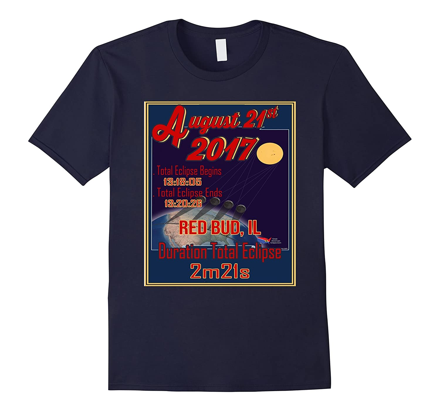 Total Solar Eclipse of 2017 August 21 Red Bud, IL T Shirt-Art