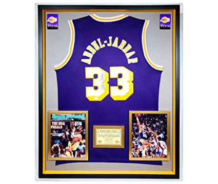 f8dccd502a4 Image Unavailable. Image not available for. Color  Premium Framed Kareem  Abdul-Jabbar Autographed Signed Los Angeles ...