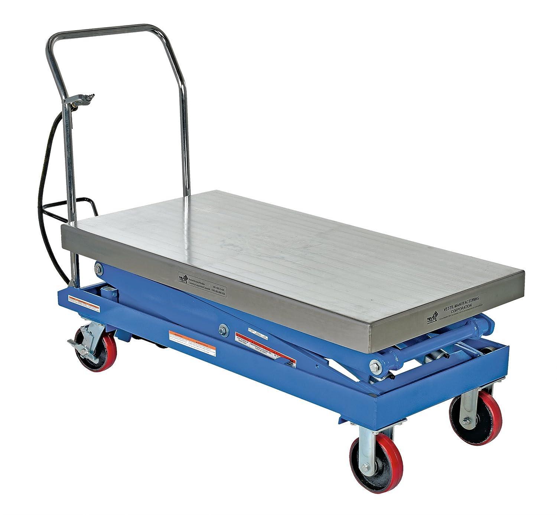 Vestil AIR-1500-D Air Steel Cart Blue 1500 lb  Capacity, Platform 24