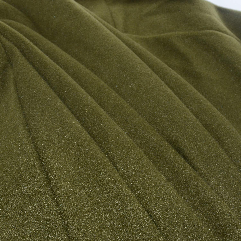 Femme Hiver Automne Élégant Couleur Unie Longue Cape à Capuche Poncho Veste Blouson Manteau Tops Longue Robes Chaude Armée Verte