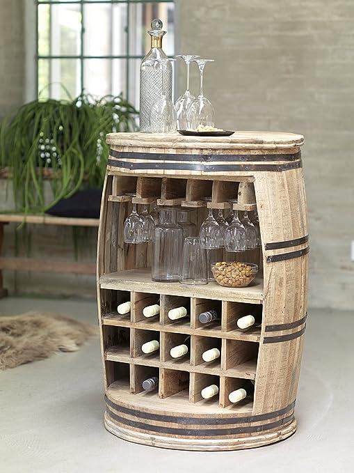 Tisch Weinfass Holz.Canett Furniture Crazy Weinfass Weinregal Aus Holz Flaschenregal Fass Tisch Bartisch Theke Holz Natur Geölt 65 X 65 X 90 Cm
