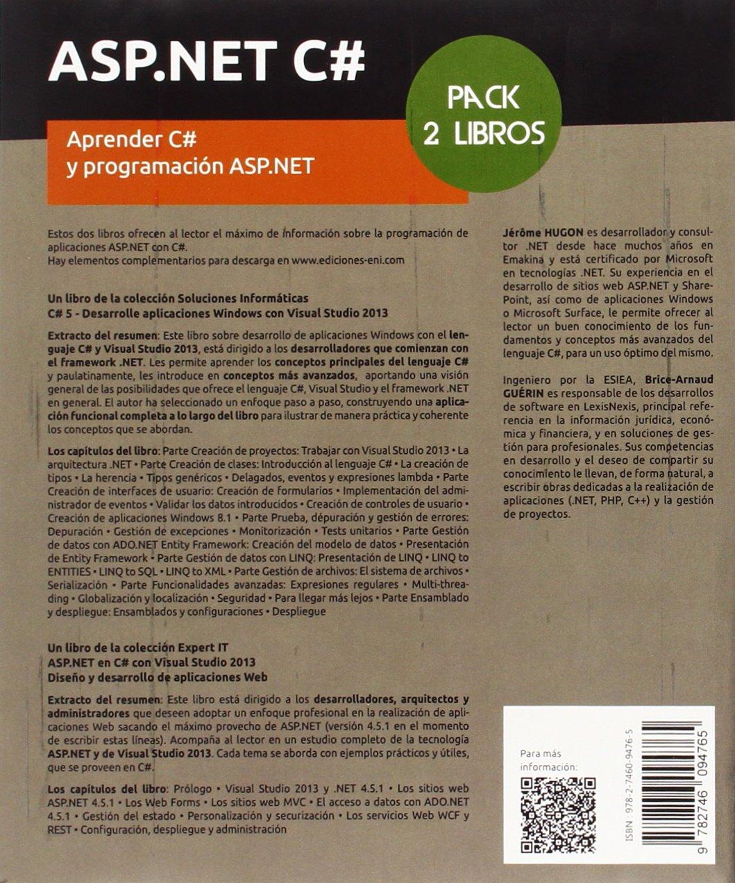 ASP.NET C# Pack de 2 libros: Aprender C# y programación ASP.NET ...