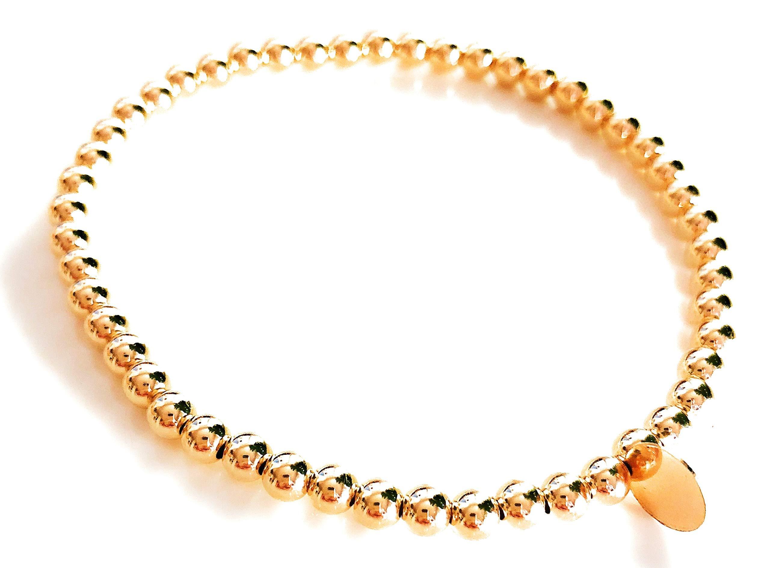 Wolf + Cub Co. 14k Gold Bead Bracelet for Women Beads Bracelet for Girls