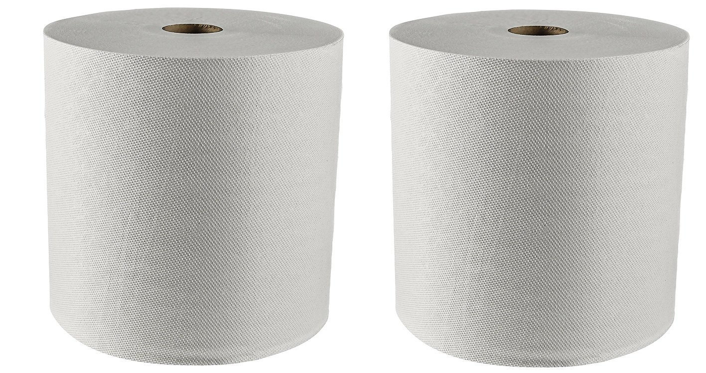 Kleenex Hard Roll Paper Towels (01080) with Premium Absorbency Pockets, White, 12 Rolls / Case, 5,100 feet (2-(12 Rolls))