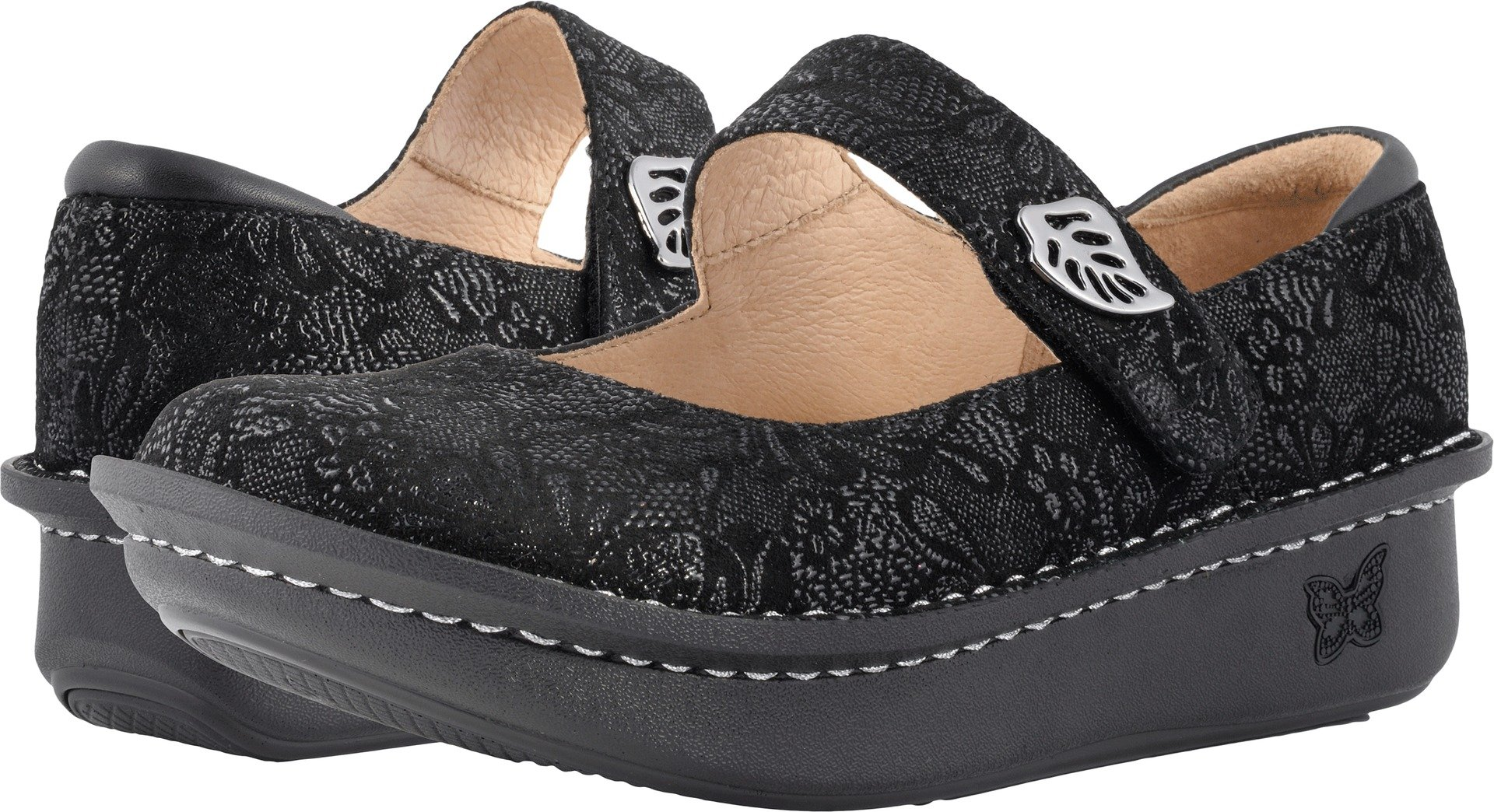 Alegria Women's Paloma Exclusive Black Leaf Mary Jane by Alegria