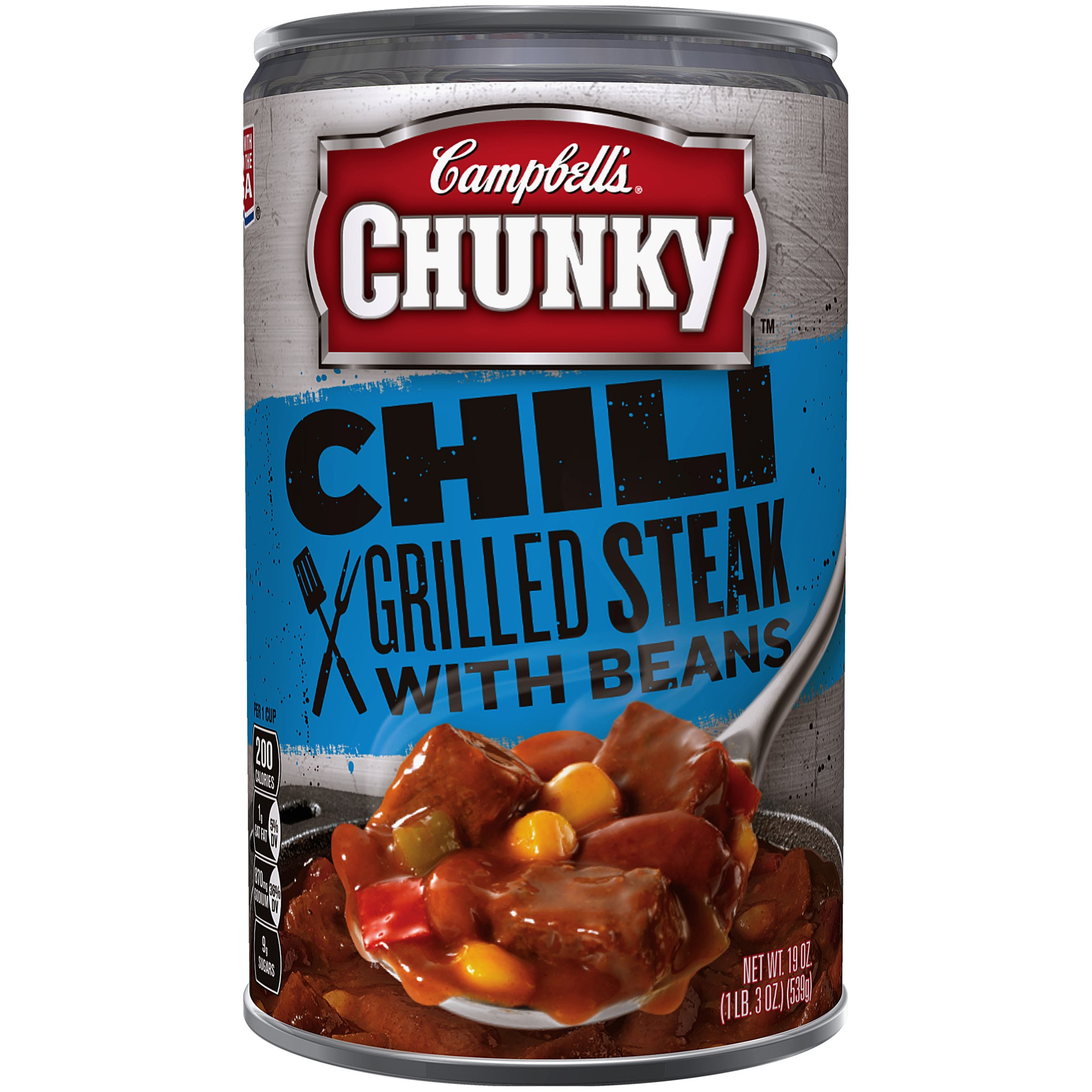 Campbells Chunky Chili Grilled Steak with Beans 19 Ounce Pack of