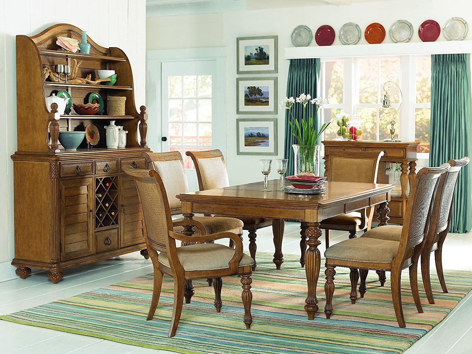 Amazon.com   American Drew Grand Isle Rectangle Dining Table In Amber  Finish   Table U0026 Chair Sets Part 46