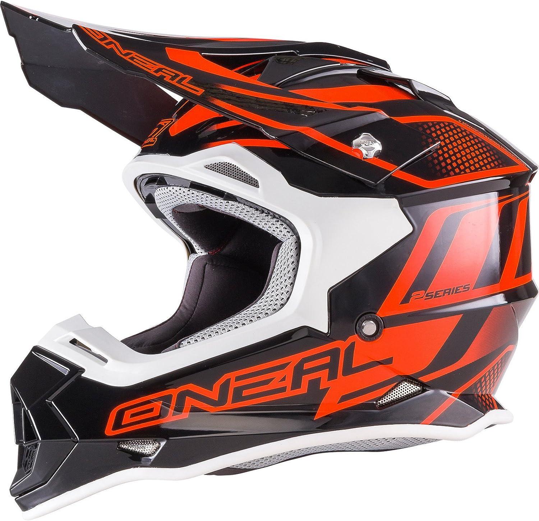 O Neal 2 Series Rl Motocross Enduro Mtb Helm Manalishi Schwarz Orange 2017 Oneal Größe M 57 58cm Sport Freizeit