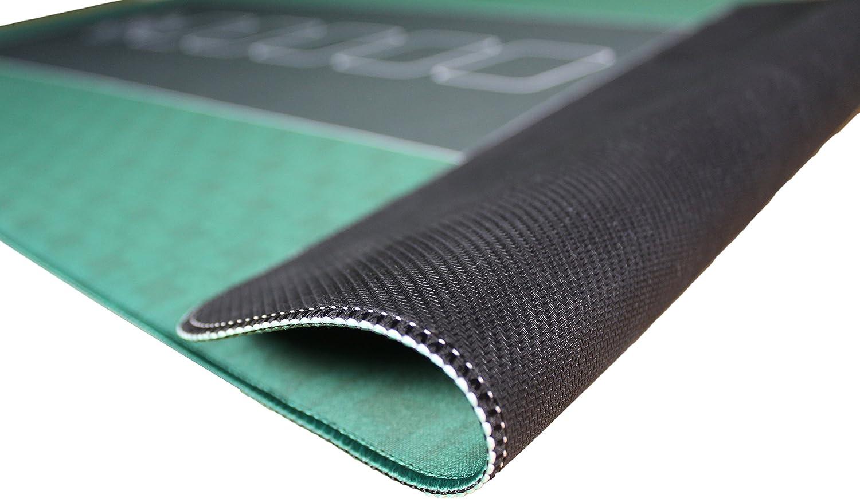 Profi Pokermatte schwarz in 100 x 60cm von Bullets Playing Cards für den eigenen Pokertisch - Deluxe Pokertuch - Pokerteppich - Pokertischauflage - ideal als Geschenk Grün