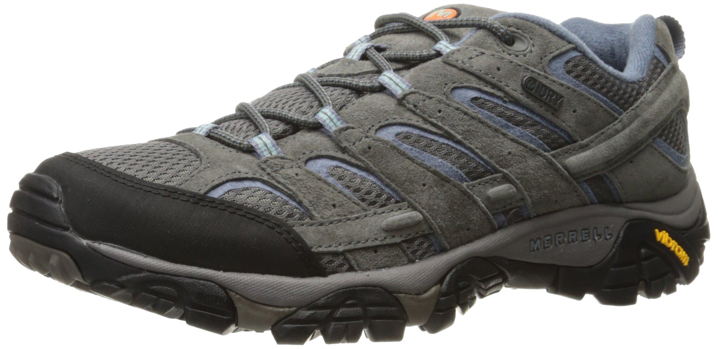 Merrell Women's Moab 2 Waterproof Hiking Shoe, Granite, 7.5 M US