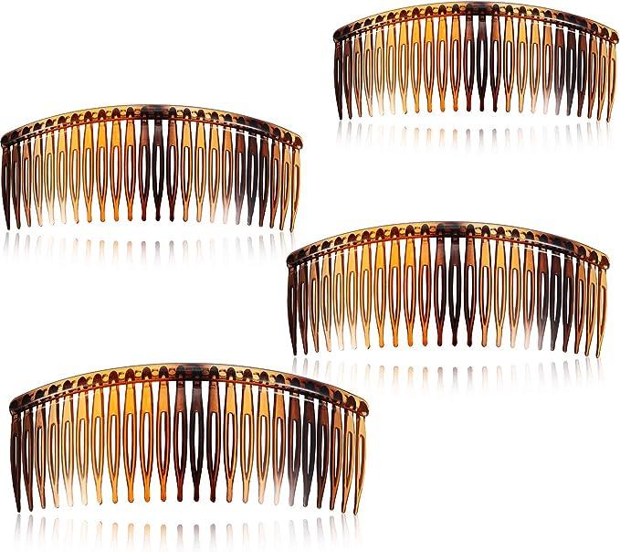 10cm or 7cm Hair Combs Pack of 4 Hair Slides Black Tort Hair Comb Plastic UK