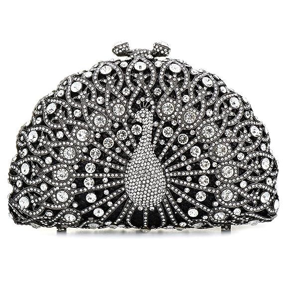 Amazon.com: ssmy embragues vidrio de lujo para las mujeres ...