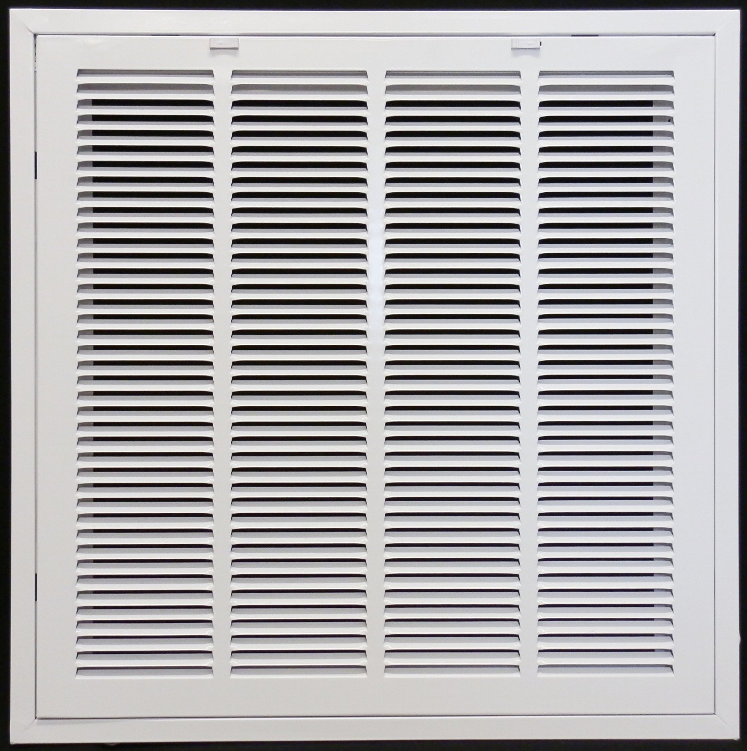 24'' X 24 Steel Return Air Filter Grille for 1'' Filter - Removable Face/Door - HVAC DUCT COVER - Flat Stamped Face - White [Outer Dimensions: 26.5''w X 26.5''h]