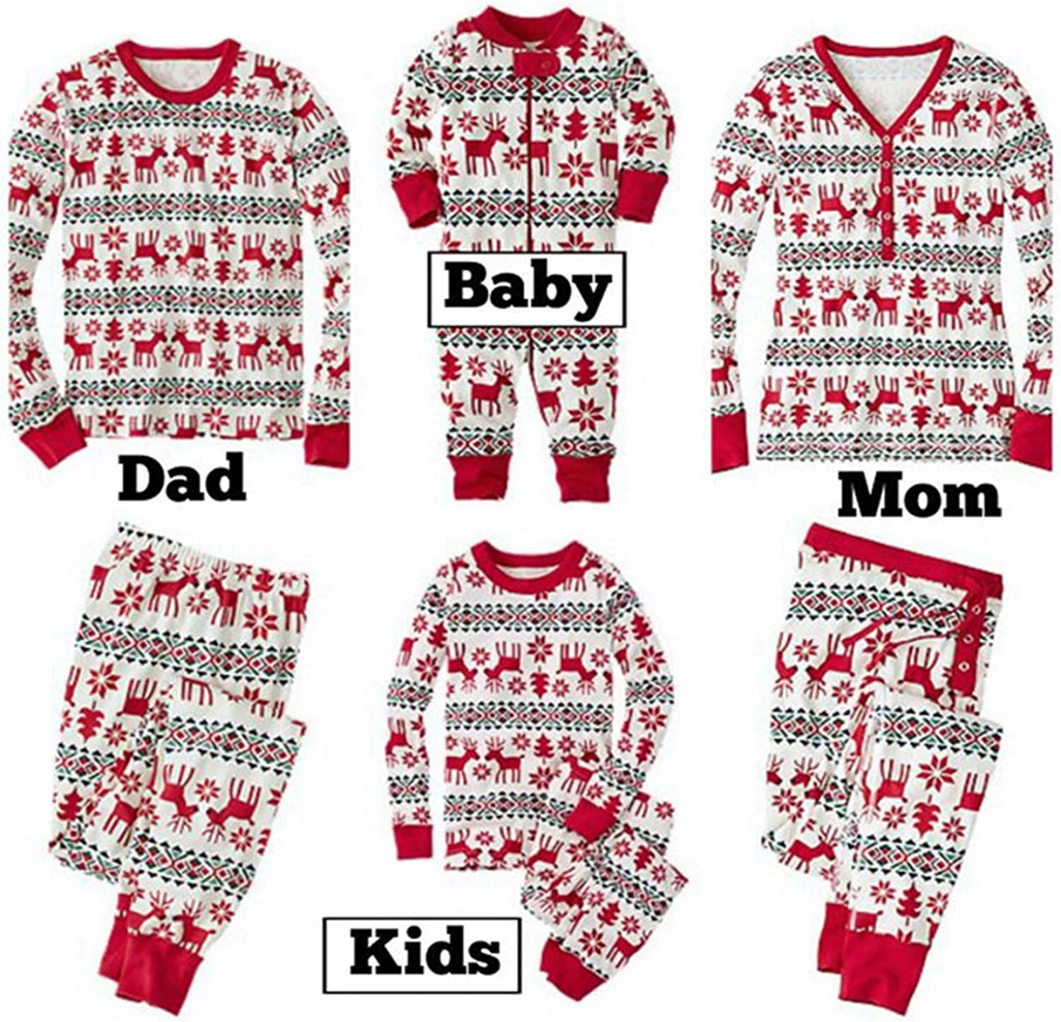Thadensama New Family Christmas Pajama Family Matching Clothes Matching New Year Fashion Parent-Child Suit Baby 4XL