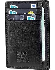 flintronic® Cartera Tarjeta de Crédito, Slim Billetera Hombre de Piel Auténtica, Mini Monedero