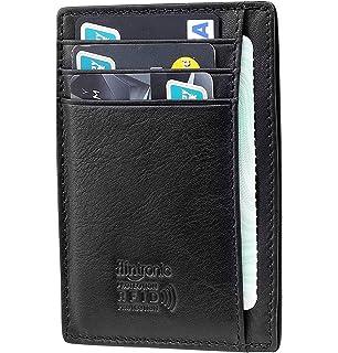 Carte Bancaire Zip.Flintronic Portefeuille En Cuir Noir Etui Rfid Blocage