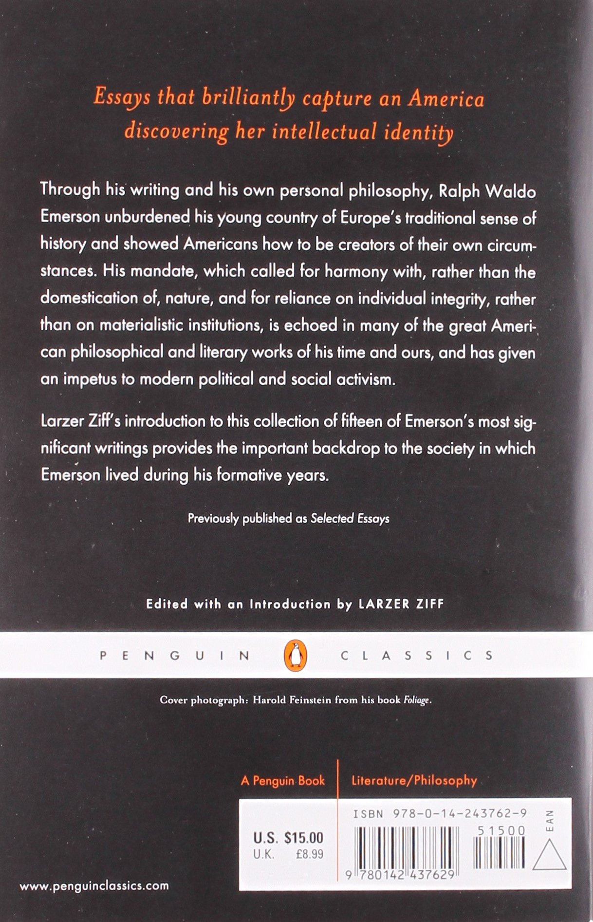 nature and selected essays penguin classics co uk ralph nature and selected essays penguin classics co uk ralph waldo emerson 9780142437629 books