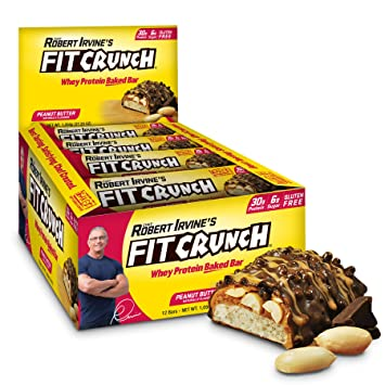FITCRUNCH Protein Bars | Designed By Robert Irvine | Worldu0027s Only 6 Layer  Baked Bar