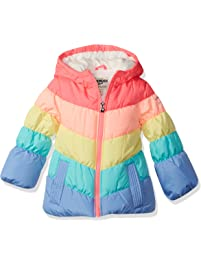 cbc24bf4bfc OshKosh B Gosh Baby Girls  Perfect Colorblocked Heavyweight Jacket Coat