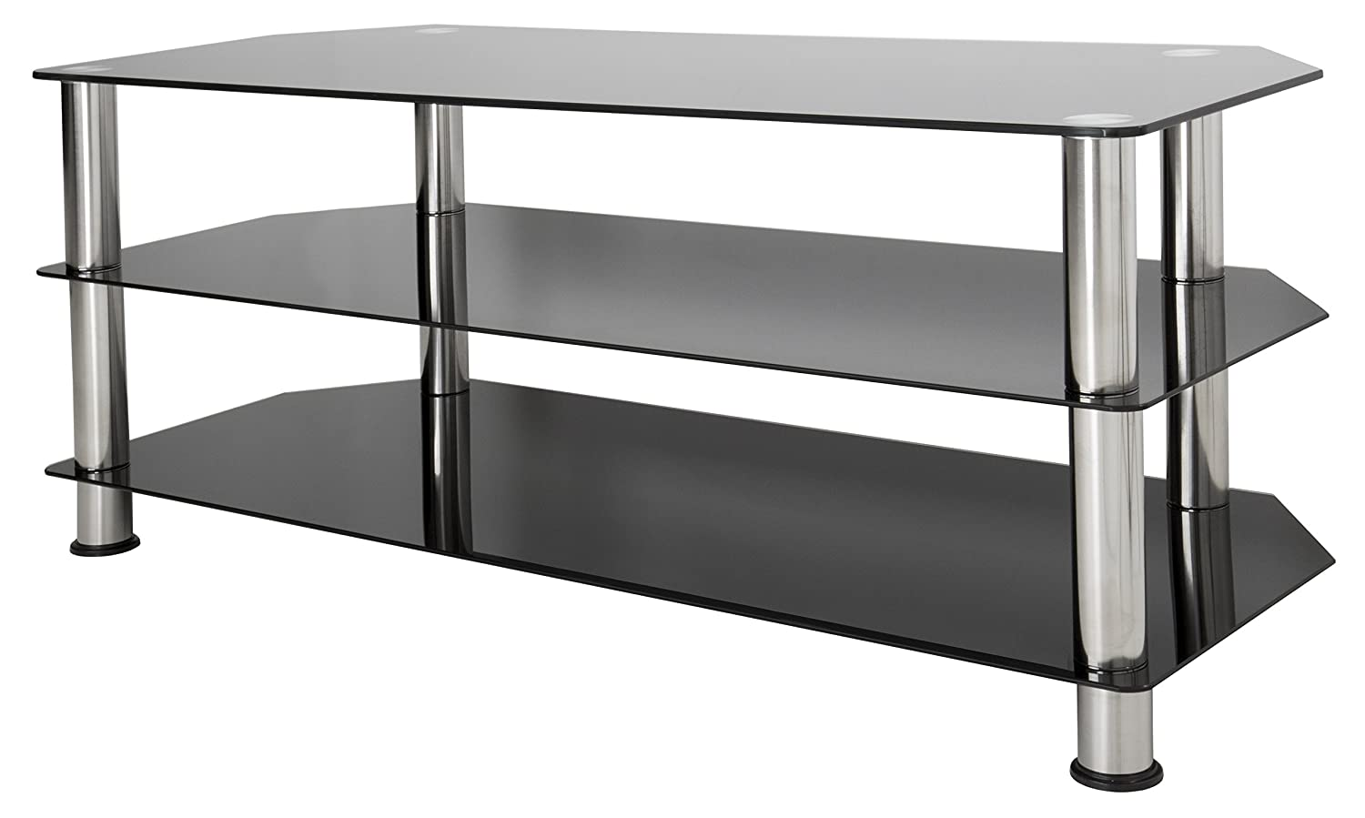 Beau Amazon.com: AVF SDC1140 A TV Stand For Up To 55 Inch TVs, Black Glass,  Chrome Legs: Home Audio U0026 Theater