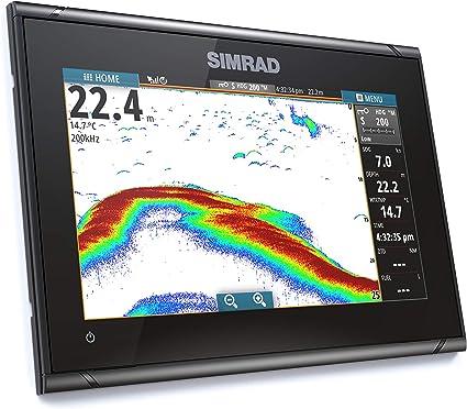 Simrad GO9 XSE Chartplotter/Fishfinder w/Medium/High DownScan Transom Mount Transducer: Amazon.es: Electrónica